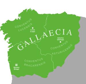 Gallaecia - Roman Gallaecia under Diocletian's reorganization, 293 AD
