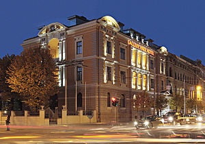Gallery Park Hotel, Riga - Image: Gallery Park Hotel evening 2009