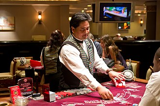 Croupier - A blackjack dealer at Harrah's Las Vegas