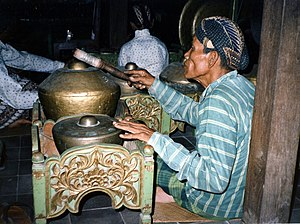 Culture of Indonesia - Gamelan player, Yogyakarta