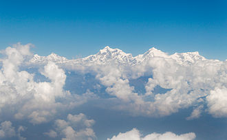 Salasungo - Ganesh Himal massif. Salasungo is on the right side of the range
