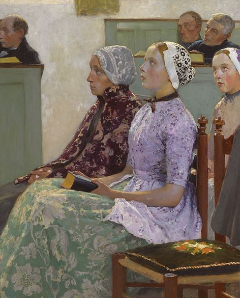 File:Gari Melchers (1860-1932), In church, Sotheby's.jpg
