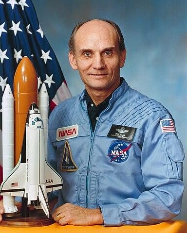 Astronaut Jake Garn, NASA photo Source: Wikipedia (www.jsc.nasa.gov unavailable October 2019) 384px-GarnNASA.jpg
