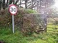 Gate Pillar, Lower Road, Llanteg - geograph.org.uk - 1051207.jpg