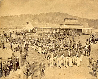United Empire Loyalist - Gathering for the Loyalist Centennial Parade in Saint John, New Brunswick in 1883