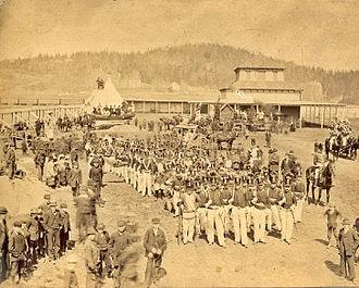 United Empire Loyalist - Gathering for the Loyalist Centennial Parade in Saint John, New Brunswick in 1883