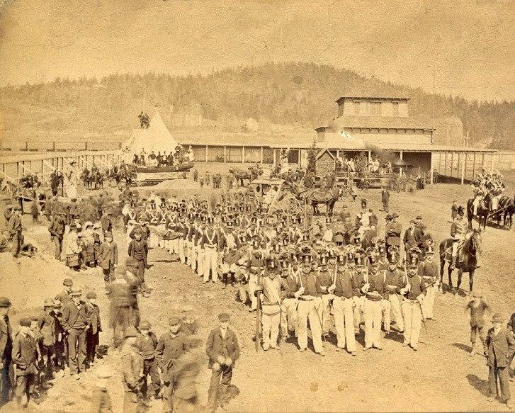 Gathering for the Parade, Loyalist Centennial, Saint John, New Brunswick