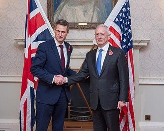 Gavin Williamson - Williamson meeting with  United States Secretary of Defense, Jim Mattis in 2017