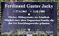 Gedenktafel Fürstenwalder Allee 93 (RahndWil) Ferdinand Gustav Jacky.jpg