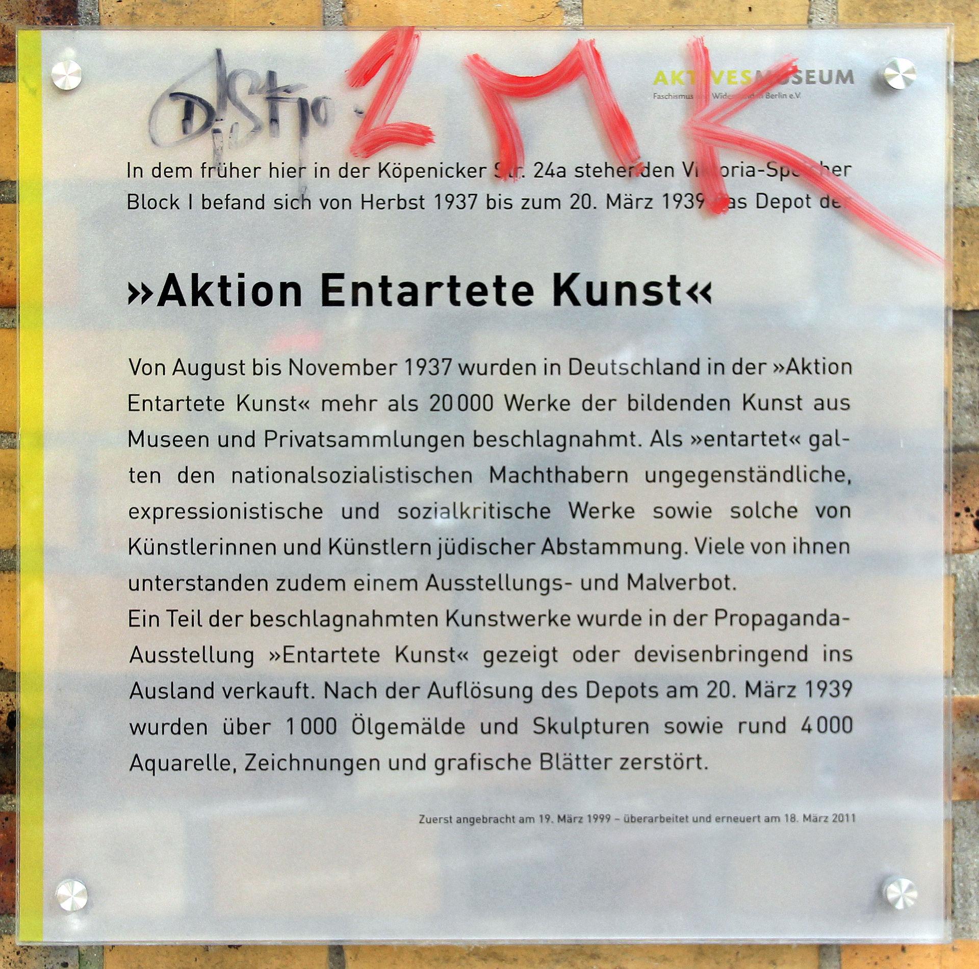 Entartete Kunst Ausstellung Wikipedia