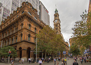 General Post Office, Sydney - The GPO as viewed from Pitt Street