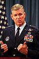 General Richard Myers, Commander in Chief of the United States Space Command, briefs the press on Y2K issues.jpg