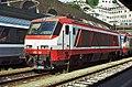 Genova - stazione ferroviaria Piazza Principe - locomotiva E.402.007 - 12-07-2002.jpg