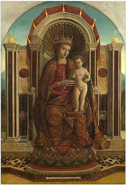 File:Gentile Bellini Madonna and Child Enthroned late 15th century.jpg