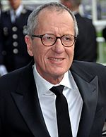 Photo of Geoffrey Rush at the Cannes Film Festival in 2011.