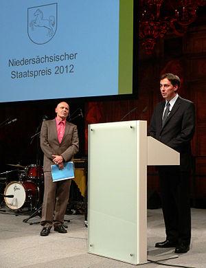 Georg Klein (writer) - Awarded with the Niedersächsischer Staatspreis 2012 from Ministerpräsident David McAllister