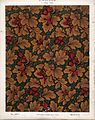 George Harrison and Co (Bradford) -Linoleum, 2 yards wide. (Victorian floral and leaf pattern, influenced by William Morris design). No. 147-1. Pattern shown half size. (1880s?) (21662428476).jpg