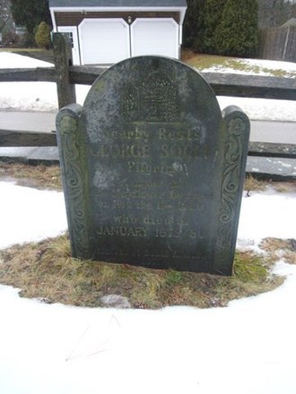 George Soule (Mayflower passenger) - George Soule's gravestone in Duxbury within the Myles Standish Burial Ground.