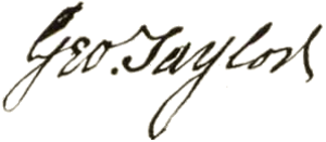 George Taylor (Pennsylvania politician) - Image: George Taylor signature