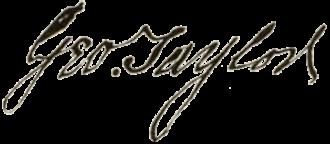 George Taylor (Pennsylvania politician) - Image: George Taylor signature