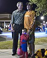 George W. Bush poses for photos with a University of Texas fan and Spiderman Tuesday, Oct. 31, 2006.jpg
