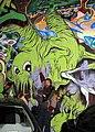 George in front of Alex Pardee grafitti at Amoeba (3217184226).jpg