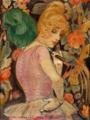 Gerda Wegener - Portræt af Lili Elbe med grøn fjervifte - 1920.png