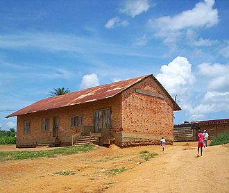 History of Cameroon - German-built building at Ambam, today used as a school