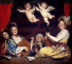 Gerard van Honthorst: Concert on a Balcony