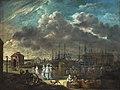Gezicht op het Bonapartedok en het Oosters huis, anoniem, ca 1814, MAS.jpg