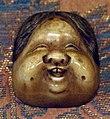 Giappone, periodo edo, netsuke (fermaglio per inroo), xix secolo, 200 maschera teatrale.jpg