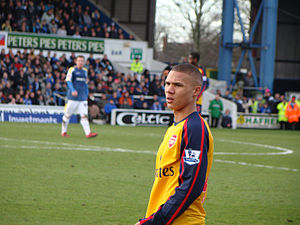 Photo of English footballer Kieran Gibbs