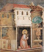 """Milagre da Cruz"", atribuído a Giotto."