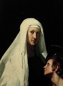 Giovanni Antonio Galli - Santa Francesca Romana con l'angelo.jpg