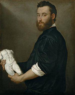 Giovanni Battista Moroni - Portrait of the sculptor Alessandro Vittoria, painting by Giovanni Battista Moroni, 1552-3, Kunsthistorisches Museum