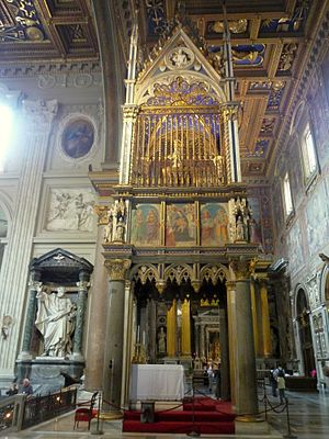 Basilica of St. John Lateran - tabernacle of S...
