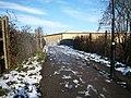 Glade Lane looking towards foot bridge over the Brentford Branch Line - geograph.org.uk - 1165281.jpg