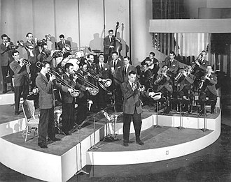 Glenn Miller Orchestra - Glenn Miller and His Orchestra, on the set of Sun Valley Serenade, 1941