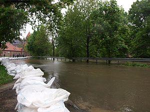 2010 Central European floods - Image: Gliwice Kaszubska 18 05 2010 P5180220