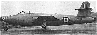 Gloster E.1/44 - Gloster E.1/44, equipped with the revised tail unit, circa 1949