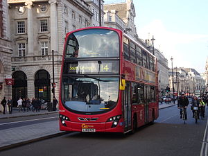 London Buses route 14 - London General Wright Eclipse Gemini 2 bodied Volvo B9TL on Piccadilly in April 2014