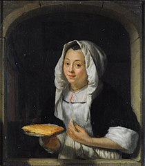 Woman with a Waffle at a Window