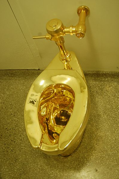 File:Gold-colored toilet.jpg