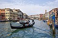 Gondolas on Grand Canal - Venice, Italy - panoramio.jpg