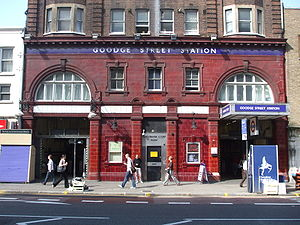 Goodge Street tube station - Entrance on Tottenham Court Road