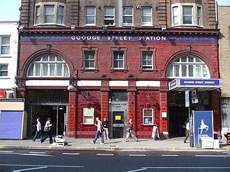Goodge Street tube station - Entrance on Tottenham Court Road