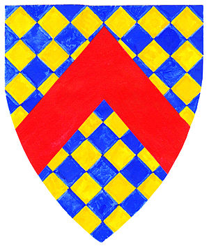 """Maurice Russell, knight - New arms (""""Gorges modern"""") adopted by """"Russell"""" Gorges family, post 1347"""