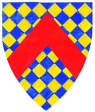 "Maurice Russell, knight - New arms (""Gorges modern"") adopted by ""Russell"" Gorges family, post 1347"