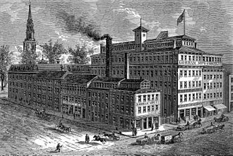 Gorham Manufacturing Company - Gorham Manufacturing Company's Works. Canal, Steeple, and North Main Streets, Providence, 1886