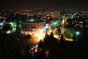 Gornji Milanovac - Gornji Milanovac at night
